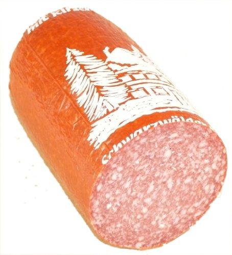 Schwarzwald Metzgerei - Kirschwasser-Salami, mild im Geschmack, schmackhaft abgerundet durch das blumige Aroma des Kirschwassers - 500g am Stück