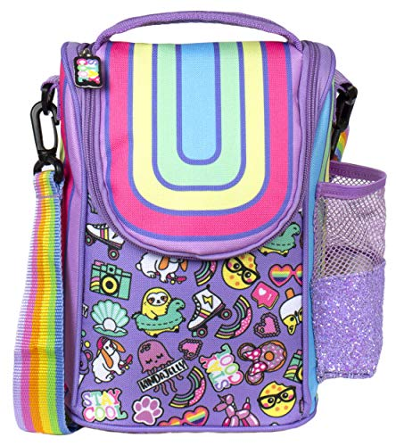 Fringoo - Large Capacity Kids Strap Lunch Bag | Small Cool Bag Kids Lunchbox | Perfect As School Lunch Bag For Boys - Rainbow Smile