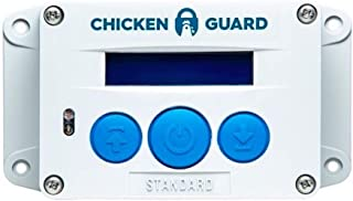 ChickenGuard Automatic Chicken Coop Door Openers, 3 Models, Timer/Light Sensor, Lift up to 4kg Pop Hole Door, Batteries (Standard)