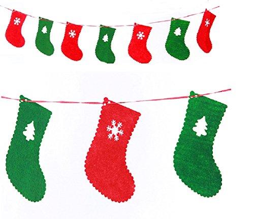 (コズミックイブ)cosmic eve S17 旗 クリスマスリース ガーランド ガーラント 装飾 オーナメント クリスマス クリスマスツリー かざり 飾り アンティーク 調 シャビー オシャレ クリスマスツリー 旗 S17 (靴下)