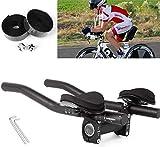 FIVE FLOWER Bicycle TT Handlebar Triathlon Aero Bars with Handlebar Tape Tri Bars Cycling Rest Handlebar for Moutain Bike or Road Bike (style1)