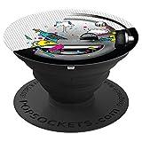 emoji - happy emoji brand schwarz weiß neon 90er Musik - PopSockets Ausziehbarer Sockel und Griff für Smartphones und Tablets