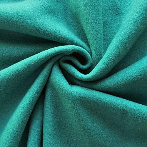 STOFFKONTOR Baumwolle Fleece Stoff Season Classic - Öko-Tex Standard 100 - Meterware, Petrol - zum Nähen von Bekleidung, Decken, Dekoration, zum Basteln UVM.