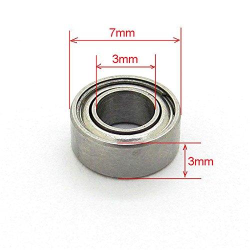 3x7x3mm Miniature Steel Bearings Deep Groove Ball Bearing Pack of 10