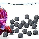 JOR Tourmaline Balls for Betta, Over 30 Beneficial Elements, Calcium-Rich Fish Nourishment, Beads for Active Fish, Aquarium Décor, 20 Balls/Pack