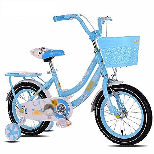 LVZAIXI Kinder Fahrrad Rosa 1-Gang-Farbe koordiniert Speichenräder voll geschlossenen Kettenschutz und leicht zu erreichen Bremse (Farbe : C, größe : 18 inch)