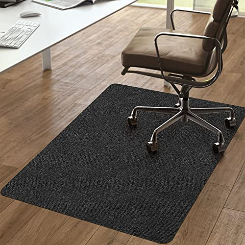 Vicwe Chair Mat, 1 6  Thick 36 x56  Office Home Chair Mat for Hard Floor Protection, Anti-Slip, Multi-Purpose Floor Mat for Porch, Study,Restauran,Office (Dark Gray)