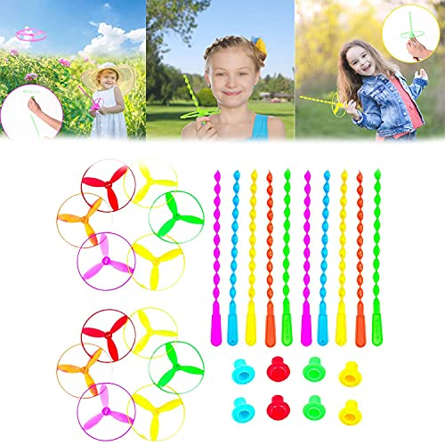 Novelty Pull String Flying Saucers Toys,Twist Disc Flyer Saucers Flying Discs Toy,Outdoors Spinning FlywheelDecompress Pull String Flying Saucers Rotating Toys.