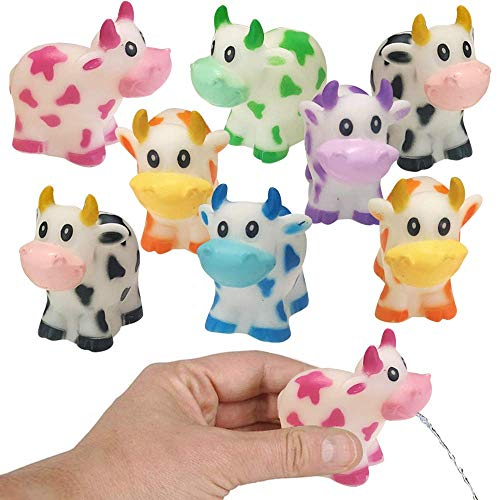 ArtCreativity Rubber Water Squirting Cows, Pack of 12, Bathtub and Pool Toys for Kids, Safe and Durable Water Squirters, Birthday Party Favors, Goodie Bag Fillers