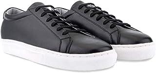 [BSQT] 男子カジュアル天然の牛革ハンドメイド·スニーカーズ,柔らかさと軽さの良さ,白と黒のスニーカーの靴