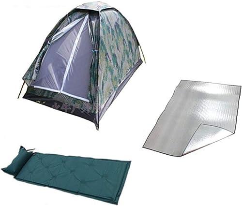 LiRongPing Tente de Camouflage numérique pour Le Camping en Plein air, Tente de Camping étanche pour 2 Personnes, Tente Anti-humidité, Coussin Gonflable