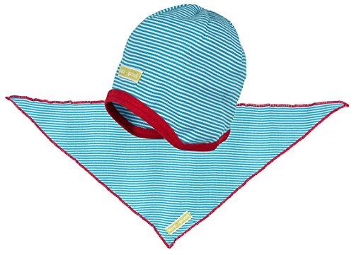 loud + proud Baby-Unisex Tuch Mütze, Blau (Aqua Aq), 45 (Herstellergröße: 86/92)