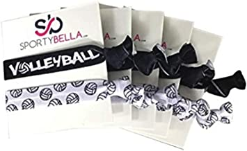Infinity Collection Volleyball Hair Accessories, Volleyball Hair Ties 5pk, No Crease Volleyball Hair Elastics Set, Volleyball Party Favors