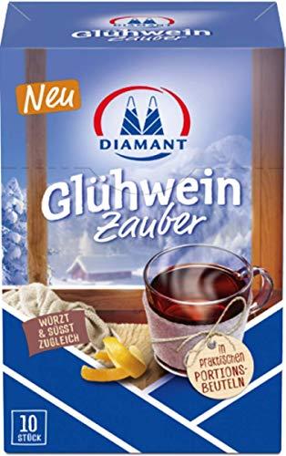 DIAMANT Glühweinzauber 8x200g 10x20 Gramm Beutel - leckerer Glühwein Winter Weihnachten