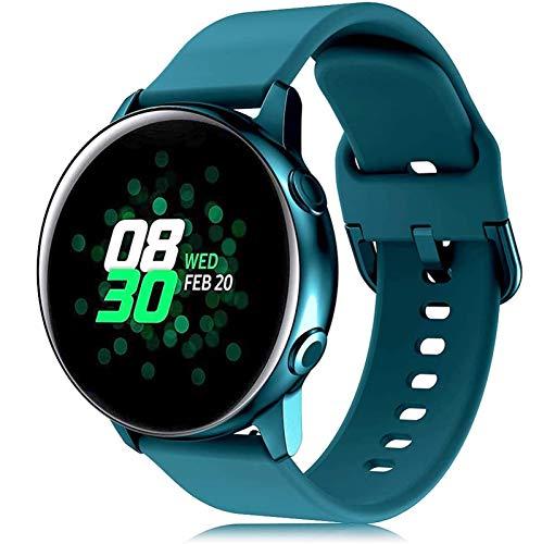 GZMYDF Correa de 20/22 mm para Samsung Galaxy Watch 3 Active 2/42 mm/41 mm/Gear S3/Sport pulsera de silicona Smar para Huawei Watch GT 2 Band 46 (color de la correa: 9, ancho de la correa: 22 mm)