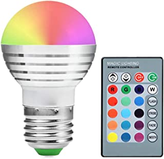 HYF Led Light E27/E26 Dimmable RGB 5Watts Lamp Led Bulbs Colorful RGB Bulb Chandeliers IR Remote Controller AC 85-265V