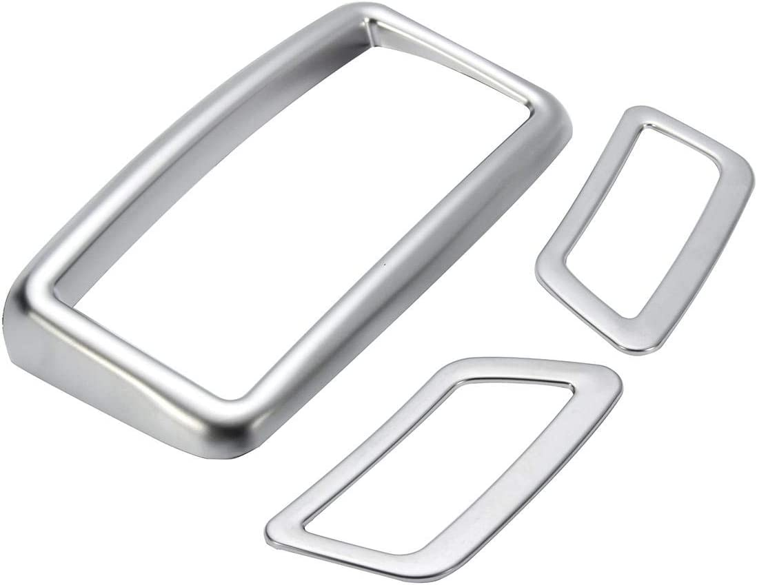 NLXTXQC Car 3pcs Chrome Our shop OFFers the best service Dashboard Panel Cover Trims Air Cheap mail order shopping for Vent