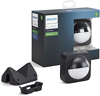 Philips Hue Dusk-to-Dawn Outdoor Motion Sensor for Smart Home, Wireless & Easy to Install (Hue Hub Required, for use with ...
