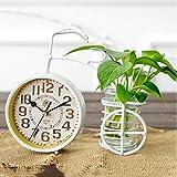 GH Adornos Blanco Creativo Reloj Silencioso Decoración De Escritorio Sala De Estar Simple Moderno Personalidad Pequeño Escritorio De Mesa Reloj