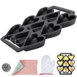 ✓Cast Iron Heart Shaped Pan: Made of top quality 100% heavy duty cast iron. This cast iron pan is a durable and solid cookware, suitable for many kinds of fluffy biscuits and individual desserts. ✓Heat Evenly: the quality of cast iron can heat distri...