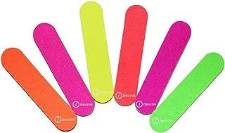 ZMOI TM (1 DOZEN) Colorful Neon Girly Mini Emery Board Nail Files