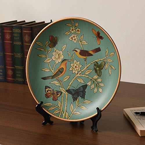 LANA Im amerikanischen Stil Rustikal Old Craft Keramik Plate Ornamente, Haus Wohnzimmer Ornament Möbel for Wohnzimmer Büro und Eingang, Geschenk for Hochzeit, Geburtstag, Einweihungs (Color : #1)