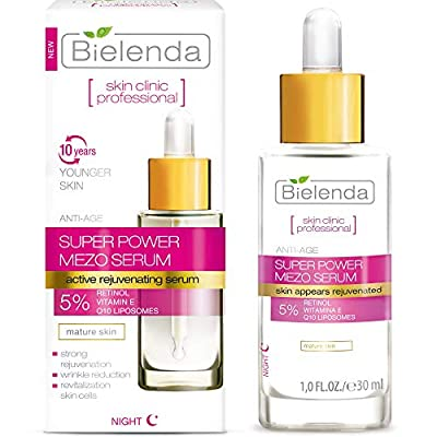Bielenda Skin Clinic - Face Serum - Reduces Wrinkles Improves Firmness, Elasticity, Smoothes And Revitalizes Skin Cells - Skin Clinic Professional Face Serum With Retinol And Q10-30 ml from Bielenda