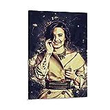 HZHI Cara Delevingne Retro-Poster, Feines