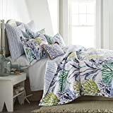 Levtex home - Crete Quilt Set - Full/Queen Quilt + Two Standard Pillow Shams - Coastal - Blue, Green, Teal - Quilt (88x92in.) and Pillow Shams (26x20in.) - Reversible - Cotton Fabric