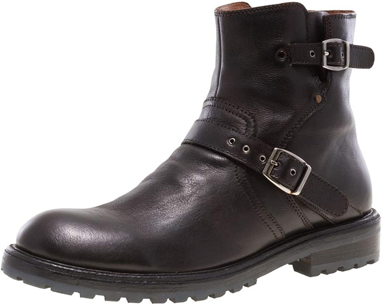 JUMP NEWYORK Men's BYKER Pull-on Engineer Boot with Zipper