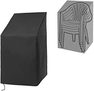 QEES Waterproof Furniture Chair Dust Cover Heavy Duty Polyester Outdoor Garden Waterproof Protector with Closed Strap Brea...