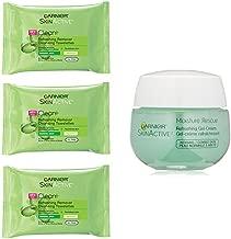 Garnier Skincare Towelettes (Pack of 3) and Moisture Rescue Gel-Cream