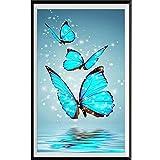 5D pintura de diamante redondo mariposa bordado de diamantes punto de cruz mosaico decoración del hogar-30x40cm