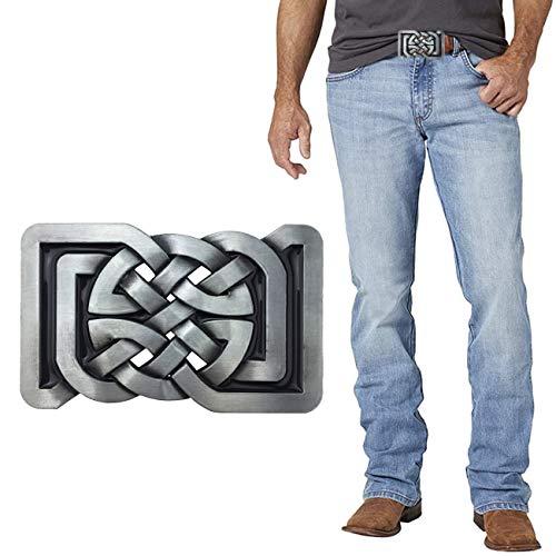 XGALA Vintage Fashion Western Cowboy Keltic Celtic Knot Belt Buckle Rectangle For Men Women