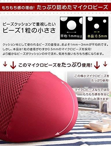 タンスのゲン【新発明!ビーズ×ハニカムメッシュ】ビーズクッション使い分けできる2wayタイプMサイズキューブレッド2910000212AM【67529】