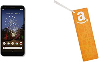 Google - Pixel 3a XL with 64GB Memory Cell Phone (Unlocked) - Just Black Bundle with Amazon.com $50 Gift Card as a Bookmark (Amazon Icons Design)