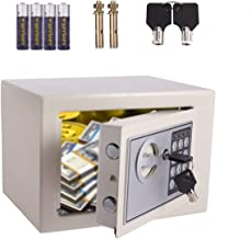 Safe Box Steel Construction Fireproof Digital Small Safe with 2 Keys Double Locking Bolts Wall Floor Mounted Design for Ca...