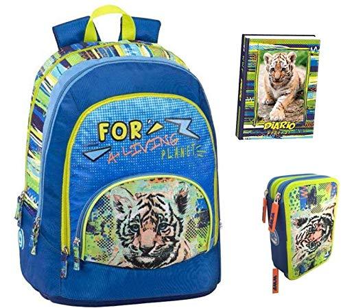 Kit completo de mochila escolar WWF A Living Planet para hombre Boy...