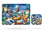 Winnie the Pooh Piglet Tiger Homeware Dining Placemat Table Mat and Cup Coaster (Table Mat & Cup Coaster)