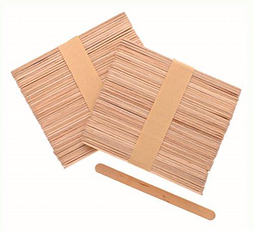 Glorex 6 2200 654 - Bastelhölzer, aus unlackiertem Birkenholz, in Form von Eisstäbchen, ca. 11 cm lang mit abgerundeten Enden, 100 Stück, vielseitig einsetzbar beim Basteln