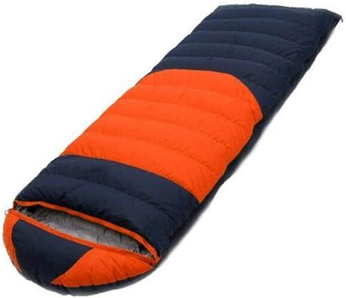 CHENGXIAOXUAN Extérieur Escalade Ultra-léger Sac De Couchage Quatre Saisons Sac De Couchage Chaud Camping Sac De Couchage De Voyage,Orangejaune600g-21080cm
