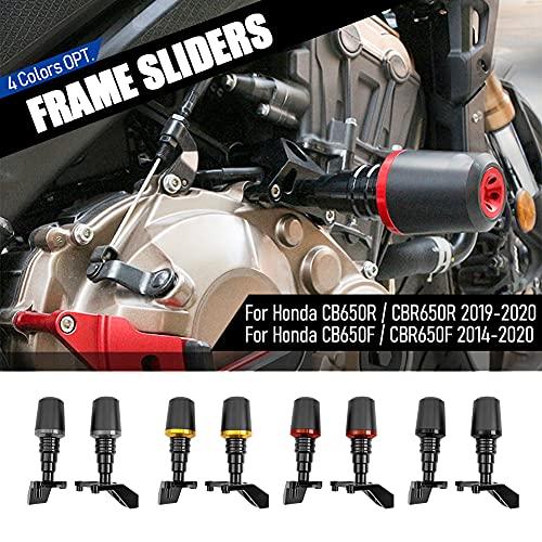 Lorababer Motorrad für CB 650 R/F CBR 650 R/F Motorschutzrahmen Schieberegler Anti-Crash Pad Kollisions-Absturzsicherungssatz für Honda CB650R CBR650R CB650F CBR650F (Titan)