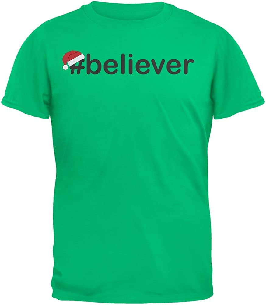 Old Glory Hashtag Believer Santa Youth Green T-Shirt