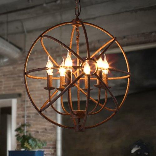 LightInTheBox lampadario rustico rurale Correzione articolo eigenschaft Candle Art metallo per soggiorno camera da letto sala da pranzo