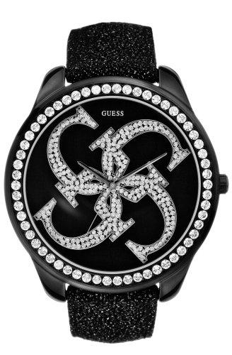 Guess Groupie 11056L1 - Reloj de mujer de cuarzo con correa de piel negra