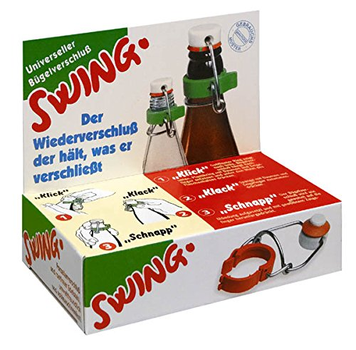 2x SWING - Universeller Wiederverschluss für Glas und Plastik Flaschen / Bügelverschluss / Flaschenverschluss / Bierflaschen Verschluss
