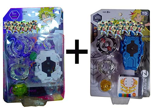 Mihir Beyblades String Power Launcher Blade for Kids - Set of 2 pcs (Multicolour)
