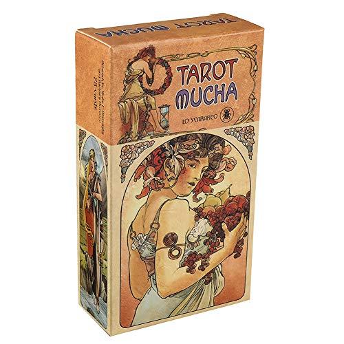 Mucha Tarot - Inglés Completo, Lectura de adivinación, Juego de Cartas Adecuado para reuniones Familiares, Adecuado para Principiantes