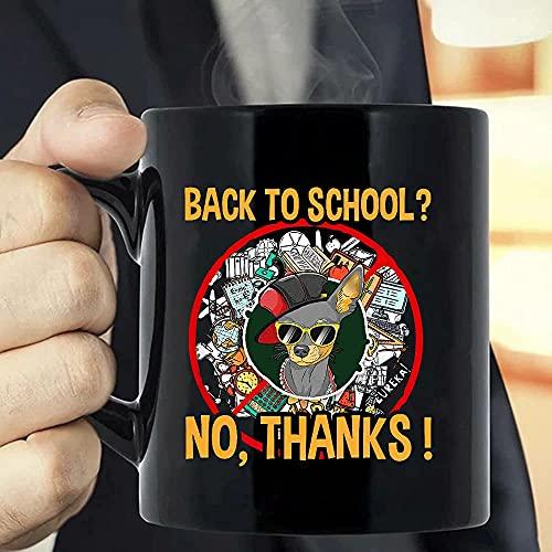 Back to School Chihuahua Dog Gafas de sol B Taza de café – Las divertidas tazas de café para Halloween, día festivo, Navidad, fiesta, decoración, 11 – 15 oz blanco/negro Cettire
