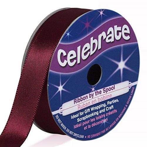 Distrifil - Bobine de ruban - satin - long 6m - larg 13 mm - Celebrate - Rouge